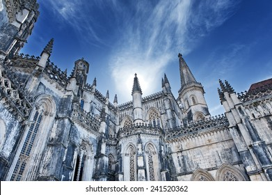Famous monastery in Portugal. Batalha and monastery were founded by King D. Joao I of Portugal to pay homage to the Portuguese victory at the Battle of Aljubarrota.