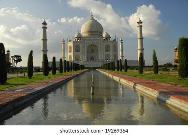 Famous monument in late afternoon light in India