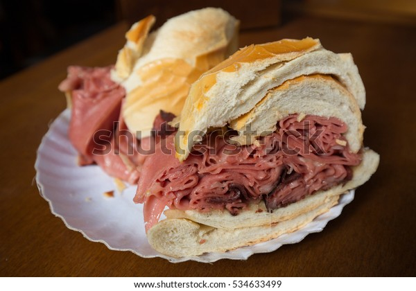 Famous Mortadella Sandwich from Sao Paulo Mercadao - Brazil