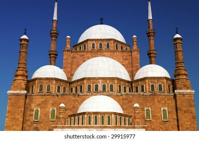 Famous mosque of Mohamed Ali (Muhammad Ali Pasha) at Saladin Citadel of Cairo, Egypt