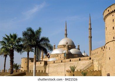 Famous mosque of Mohamed Ali (Muhammad Ali Pasha) and Saladin Citadel of Cairo, Egypt