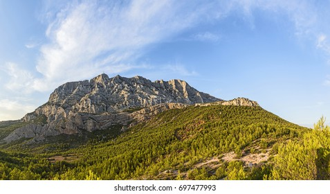 famous mount sainte-victoire in the provence, the Cezanne mountain