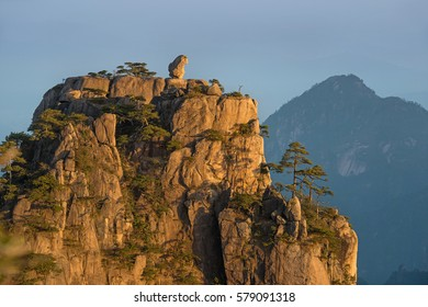 Famous mountain landscape of Huangshan - China