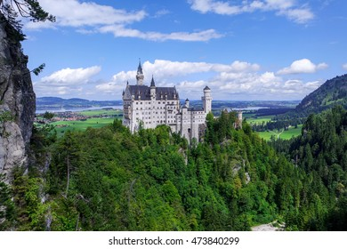 Famous Neuschwanstein Castle built by King Ludwig II of Bavaria