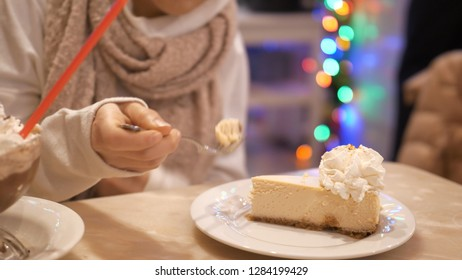 The famous New York style cheesecake