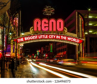 "The famous (newer) ""Biggest Little City in the World""?? sign in Reno Nevada.  This sign is across Virginia Street right in the heart of the downtown area."