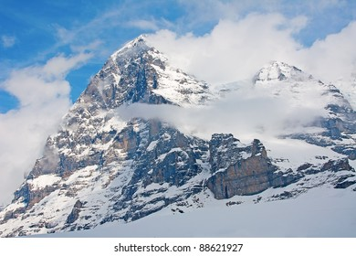 Famous North face of Eiger in the Jungfrau region