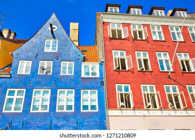 Famous Nyhavn (New Harbour) bay in Copenhagen, a historic 17 century European waterfront with colorful buildings. A starting point for boat and canal tours.