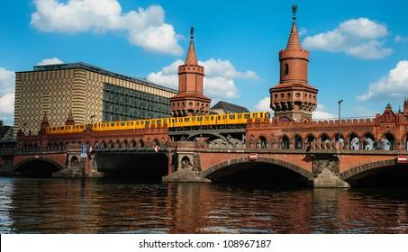 The famous Oberbaum bridge in Berlin