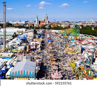 famous oktoberfest in munich - germany
