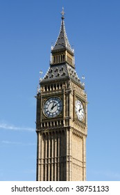 The famous old London clock tower Big Ben