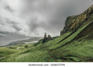 The famous Old Man of Storr, Isle of Skye