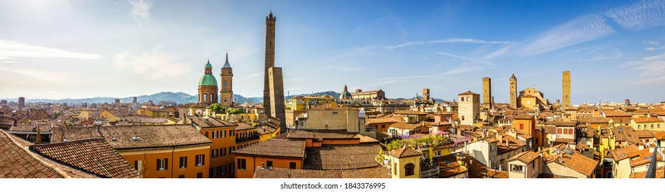 famous old town of Bologna in italy - photo