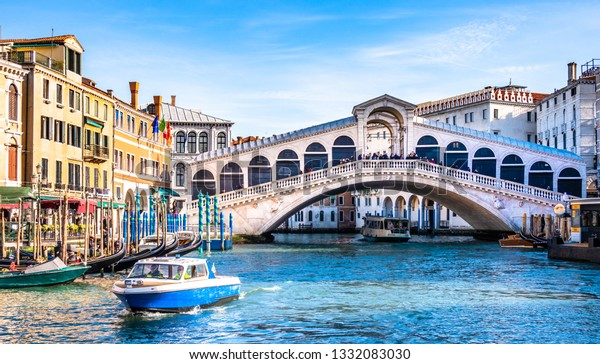 famous old town and canal of venice - italy