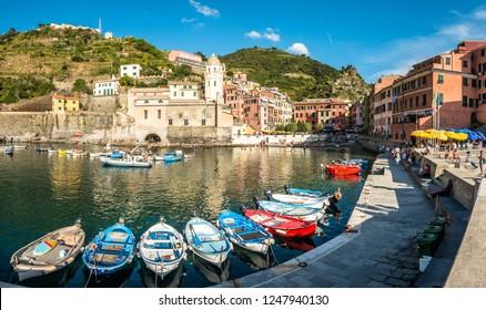 famous old town of Corniglia - cinque terre in italy