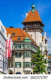 famous old town with historic buildings of Kufstein - Austria