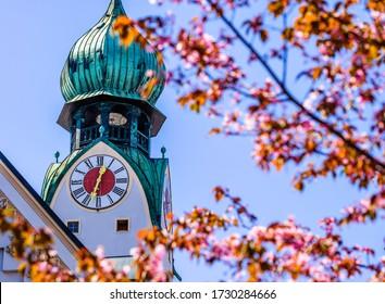berühmte Altstadt von Rosenheim - Bayern - Deutschland