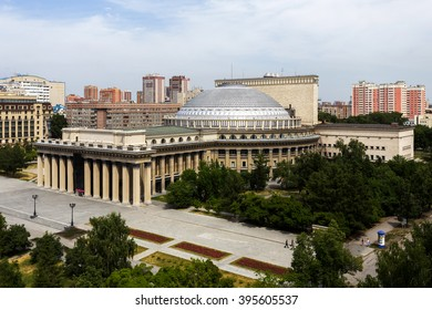 Famous opera and ballet theater in Novosibirsk