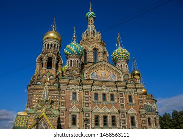 the famous Orthodox Cathedral of the Savior on Spilled Blood in the city of St. Petersburg