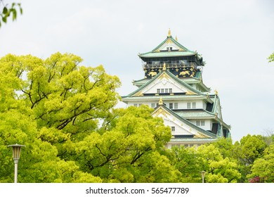 The famous Osaka Castle shot in spring