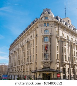 Famous Palace hotel in Madrid - MADRID / SPAIN - FEBRUAR 21, 2018
