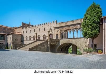 """The famous """"Palazzo dei Papi"""" in Viterbo, Lazio, central Italy."""