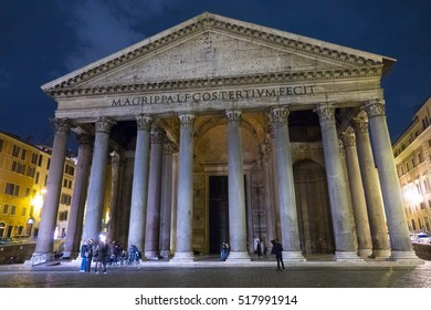 The famous Pantheon in Rome - the oldest church in the city - ROME / ITALY, NOVEMBER 6, 2016