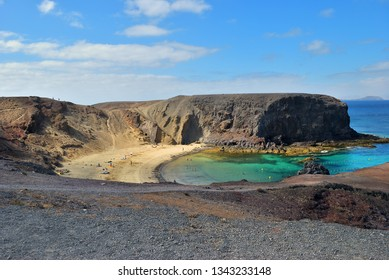 The famous Papagayo Beach on the Lanzarote Island in the Canary Islands, Spain