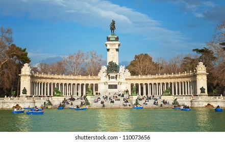 The famous Parque del Retiro in Madrid, Spain