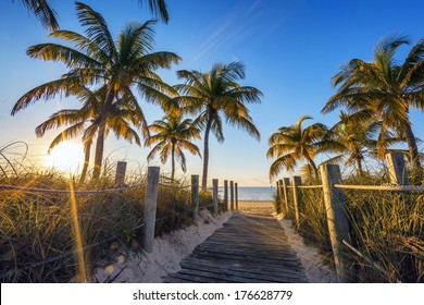 Famous passage to the beach - Key West