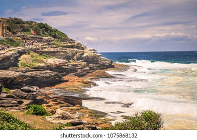 A famous path between Bondi and Coogee beaches in Sydney, NSW/Australia