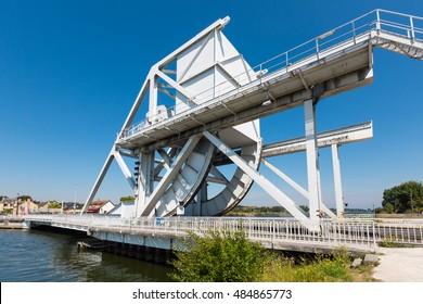 Famous Pegasus bridge, where the british forces landing behind enemy lines happend; Normandie, France