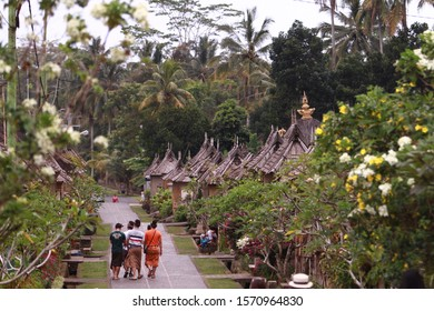 The famous Penglipuran village which bears the title of the cleanest village in the world.   Bali, 2017