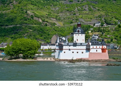 famous Pfalzgrafenstein castle ( World culture heritage ) in rhine valley
