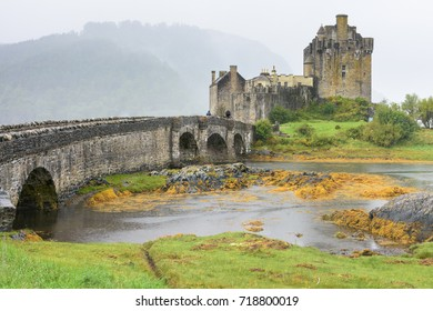 Famous picturesque Eliean Donan Castle and Loch Duich in the Scotland Highlands