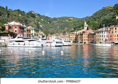 the famous picturesque Village of Portofino in Liguria,italian Riviera,Italy
