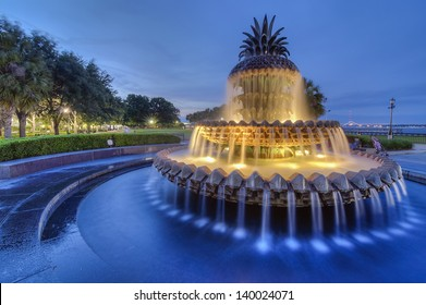 The Famous Pineapple Fountain in Charleston, SC