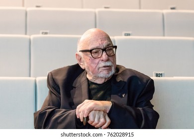Famous Polish film director and screenwriter Jerzy Hoffman during the 15th Jewish Film Festival with free admission for the public. Warsaw, Poland, 2017 November 24