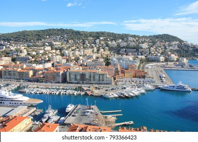 The famous port of Nice,  french riviera, France