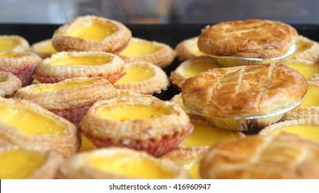 Famous Portuguese Hong Kong style dessert egg and pineapple tarts