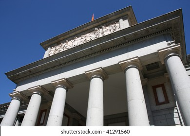 Famous Prado museum in Madrid, Spain. Classical architecture.