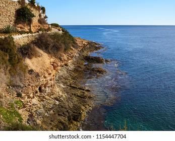 Famous promenade of Cabo Roig. Costa Blanca. Spain great summer travel destination