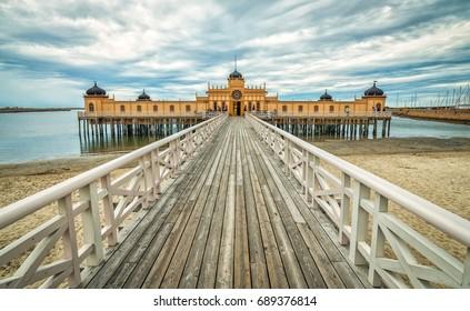 Famous public sea bathhouse in Varberg