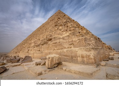The famous pyramids site in Giza, Egypt