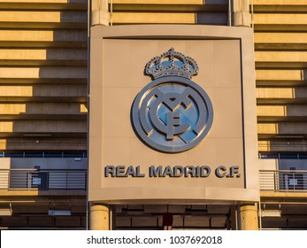 Famous Real Madrid Soccer Club - MADRID / SPAIN - FEBRUARY 20, 2018
