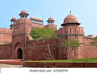 Famous Red Fort in New Delhi. It was the main residence of the emperors of the Mughal dynasty for nearly 200 years, in New Delhi, India
