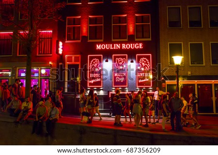 Amsterdam netherlands red light district think