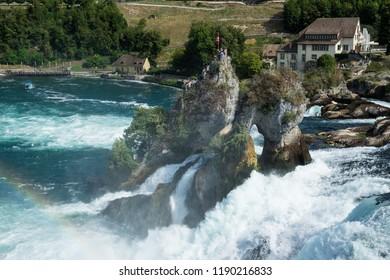 Famous Rhinefall in Schaffhausen Swiss