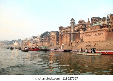 Famous river Ganges and building around