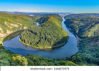 famous river saar loop in Orscholz